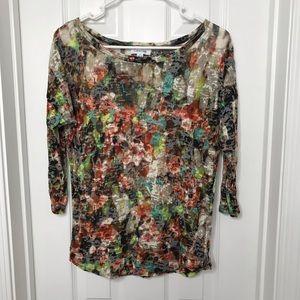 Calvin Klein Printed Floral Blouse / Shirt